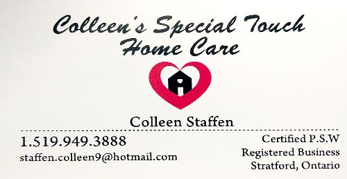 Colleen's Special Touch –  Home Care