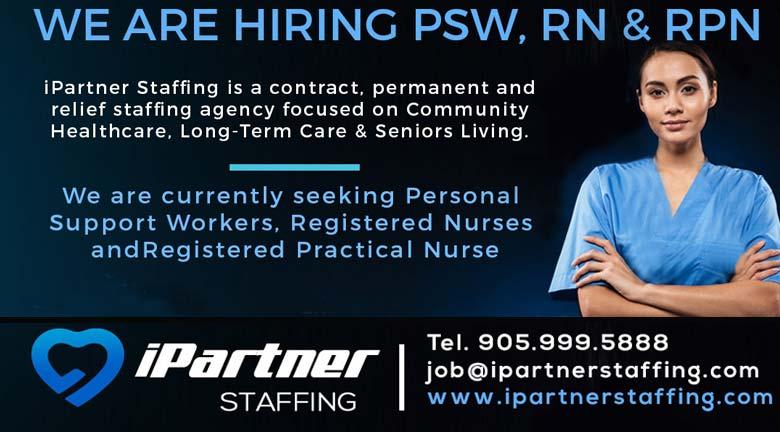 iPartner Stagging Hiring PSW, RN & RPN