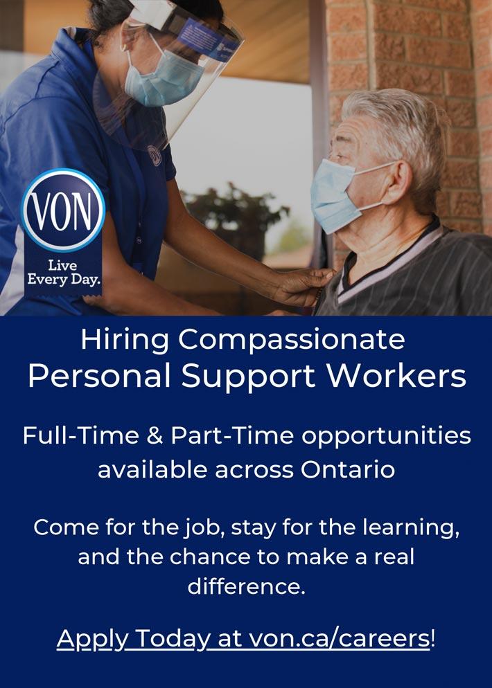 VON hiring PSWs